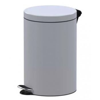 Biały pojemnik na śmieci...